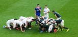 Danny Care prepares to put the ball in the scrum. Photo: John Evely